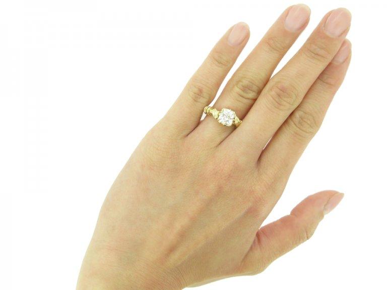 Antique old mine diamond ring berganza hatton garden