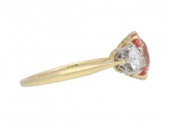 Padparadscha sapphire diamond ring berganza hatton garden