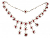 Burmese ruby diamond necklace tiara hatton garden