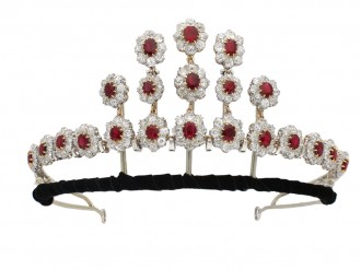 Burmese ruby diamond necklace/tiara berganza hatton garden