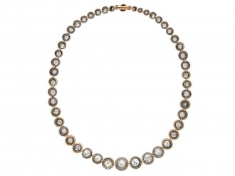 Victorian diamond riviere necklace hatton garden