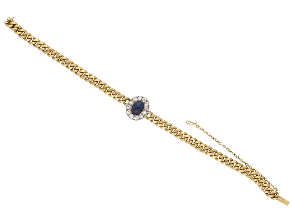 Antique sapphire and diamond bracelet berganza hatton garden