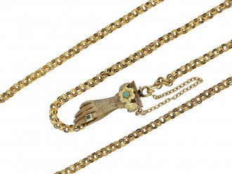 Georgian chain with gem set hand clasp berganza hatton garden