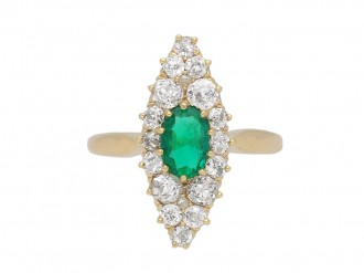 emerald diamond cluster ring berganza hatton garden