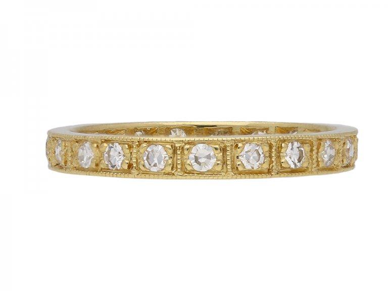 yellow gold diamond eternity band berganza hatton garden