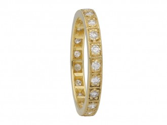 yellow gold diamond eternity band berganza hatton garden