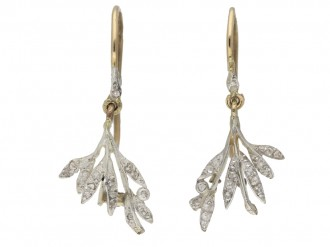 Georgian diamond earrings berganza hatton garden