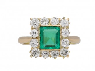 emerald diamond coronet cluster ring berganza hatton garden