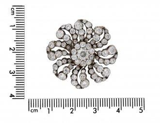 Victorian diamond flower brooch/pendant berganza hatton garden