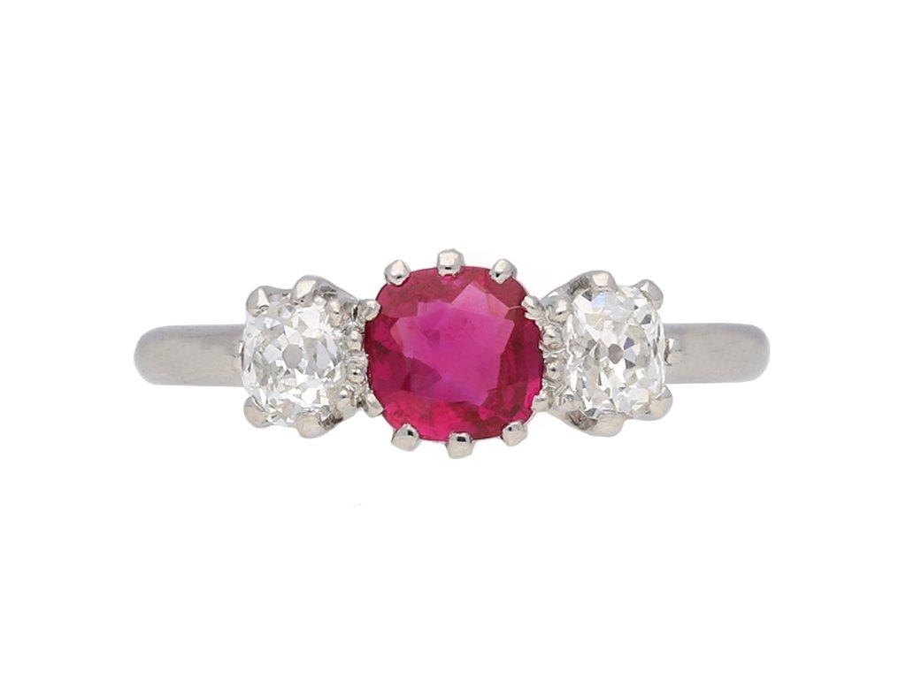 Edwardian ruby and diamond ring berganza hatton garden