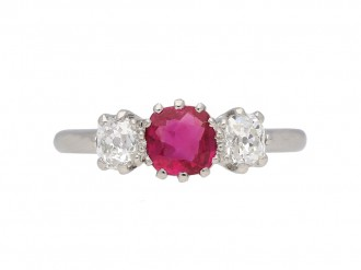 Edwardian ruby and diamond ring berganza hatton garden