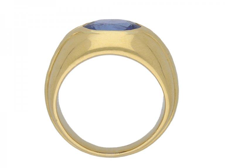 Bulgari  Ceylon sapphire solitaire ring berganza hatton garden