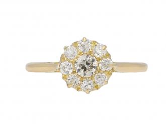 Edwardian diamond cluster ring berganza hatton garden