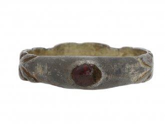 Medieval silver gilt stirrup finger ring berganza hatton garden