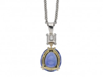 Art Deco sapphire and diamond pendant berganza hatton garden