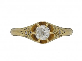 Victorian diamond solitaire ring berganza hatton garden