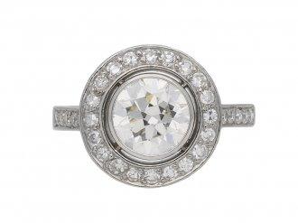 Art Deco diamond target ring berganza hatton garden
