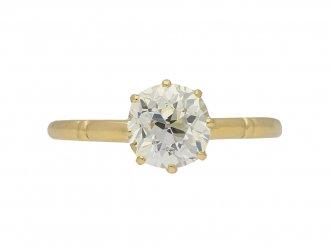 Victorian diamond engagement ring berganza hatton garden