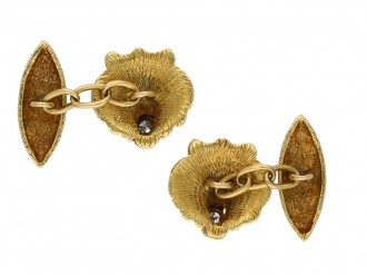 Belle Époque diamond set lion cufflinks berganza hatton garden