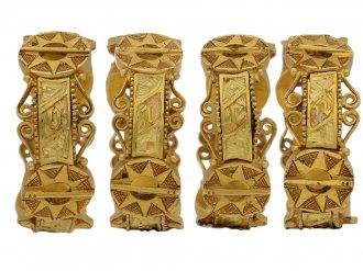Medieval gold inscribed star ring berganza hatton garden