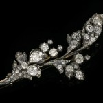 Victorian diamond foliate brooch, English, circa 1870.