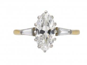 Art Deco marquise diamond ring berganza hatton garden