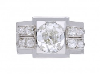 Mellerio Art Deco diamond ring berganza hatton garden