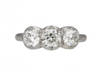 Diamond three stone ring berganza hatton garden