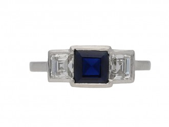 Art Deco sapphire and diamond ring, berganza hatton garden
