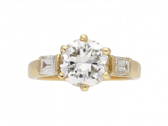 Old Cut Diamond Solitaire Ring berganza hatton garden