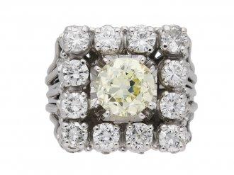Vintage diamond cluster cocktail ring berganza hatton garden