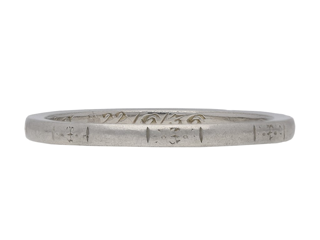 platinum engraved wedding band berganza hatton garden