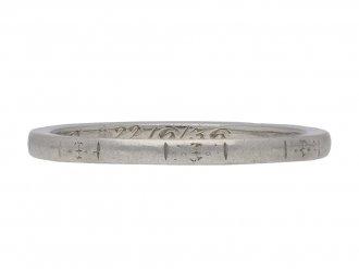platinum engraved wedding band berganza hatton garden