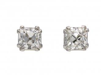 Art Deco French cut diamond stud earrings berganza hatton garden