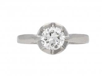Antique diamond ring French berganza hatton garden