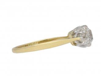 Edwardian Three Stone Diamond Ring berganza hatton garden