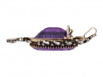 Victorian amethyst pendant/brooch berganza hatton garden