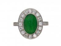 Vintage jade and diamond cluster ring berganza hatton garden