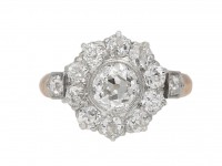 Belle Époque diamond coronet cluster ring berganza hatton garden