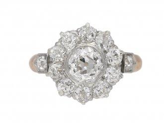 Belle Époque diamond coronet cluster ring berganza hatton garden