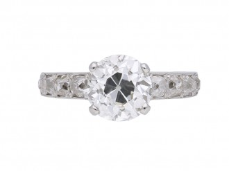 Vintage diamond solitaire engagement ring berganza hatton garden