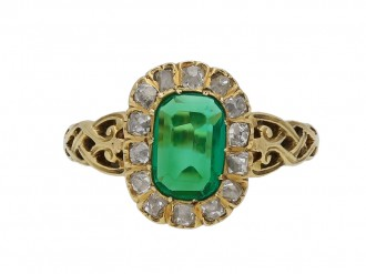 Colombian emerald diamond ring berganza hatton garden