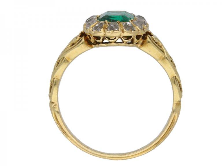 Colombian emerald diamond ring berganza hatton garden