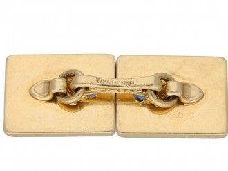Vintage Tiffany & Co. sapphire Cufflinks berganza hatton garden