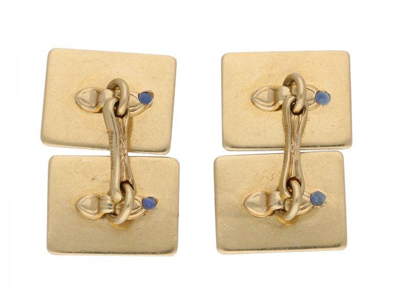 Vintage Tiffany & Co. sapphire Cufflinks berganza hatton garden