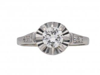 Art Deco diamond solitaire ring berganza hatton garden