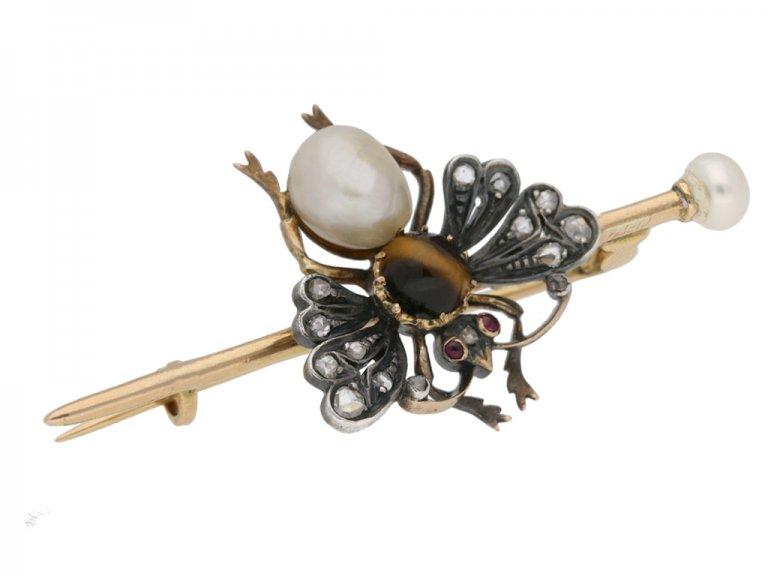 Belle Époque pearl bee brooch berganza hatton garden
