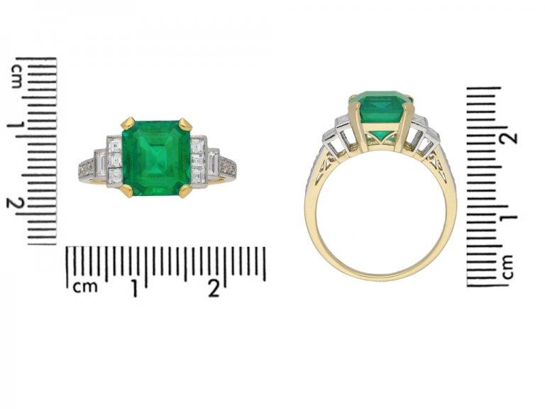Colombian emerald and diamond ring berganza hatton garden