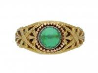 Belle Époque cabochon emerald ring berganza hatton garden