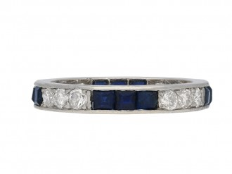 Art Deco sapphire diamond eternity ring berganza hatton garden